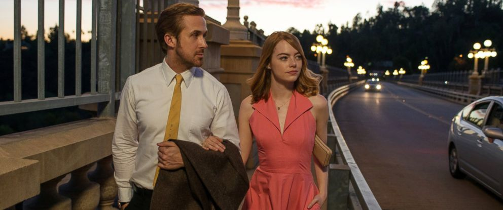 "PHOTO: Ryan Gosling and Emma Stone in ""La La Land."""