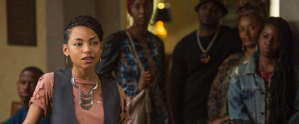 "PHOTO: Logan Browning in ""Dear White People."""