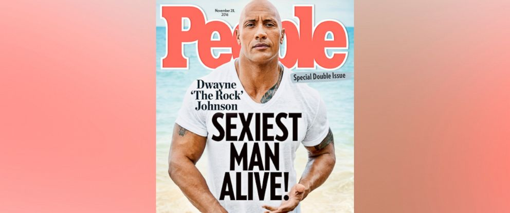 "PHOTO: Dwayne ""The Rock"" Johnson was named People Magazines Sexiest Man Alive on their Nov. 28, 2016 issue."