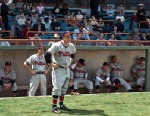"""PHOTO: In the new movie, """"42,"""" Alan Tudyk plays Ben Chapman, the Phillies manager who adamantly opposed Jackie Robinsons entry into the league and was notorious for yelling racist remarks at the first basemen."""