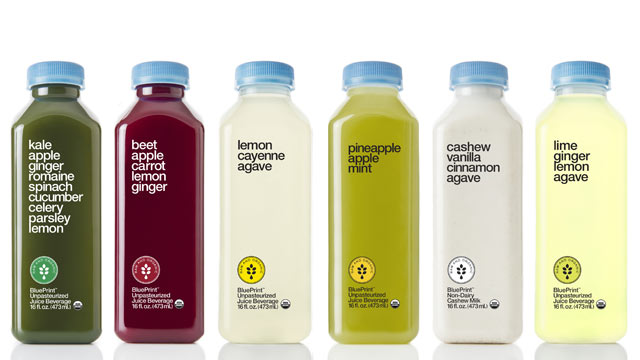 PHOTO: BluePrint's fresh juices are shown here.