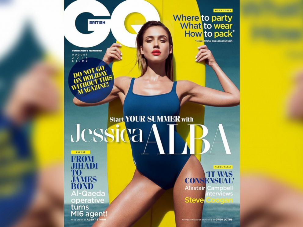 PHOTO: Jessica Alba appears on the cover of the August, 2014 issue of the UK edition of GQ Magazine.