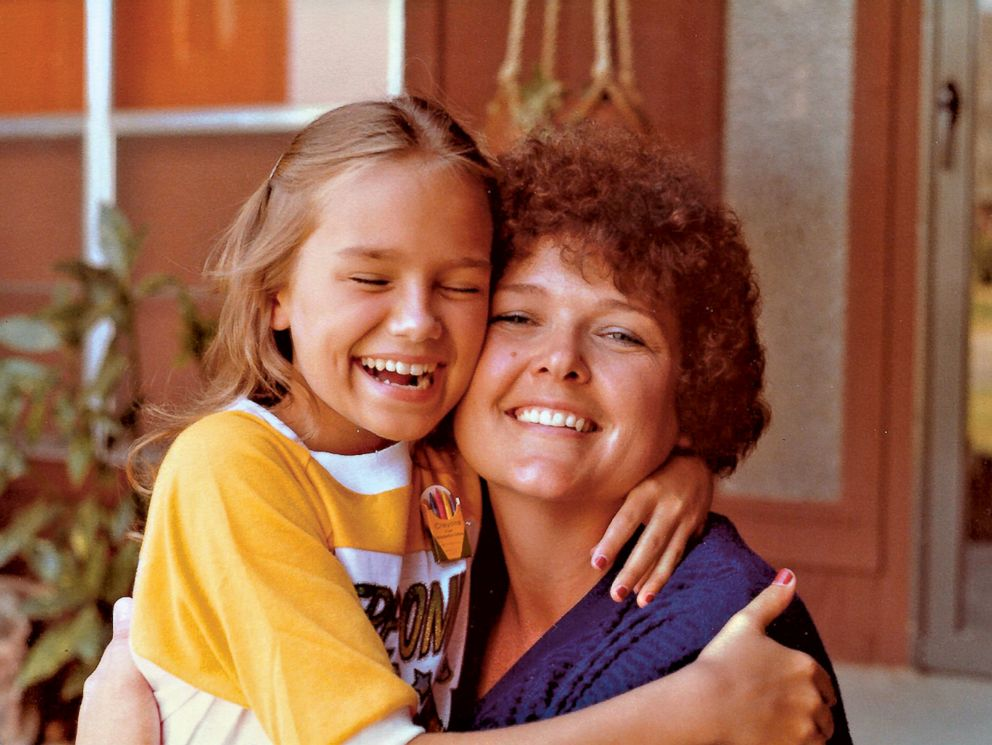 Kristin Chenoweth is pictured with her mother in a childhood photo.