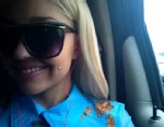 PHOTO: Amanda Bynes posted a new picture on her tumblr page of her new cheek piercing.