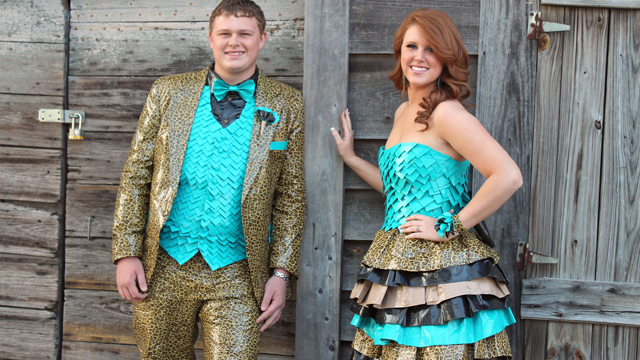 Couple Wears Duct Tape Outfits To Prom Abc News