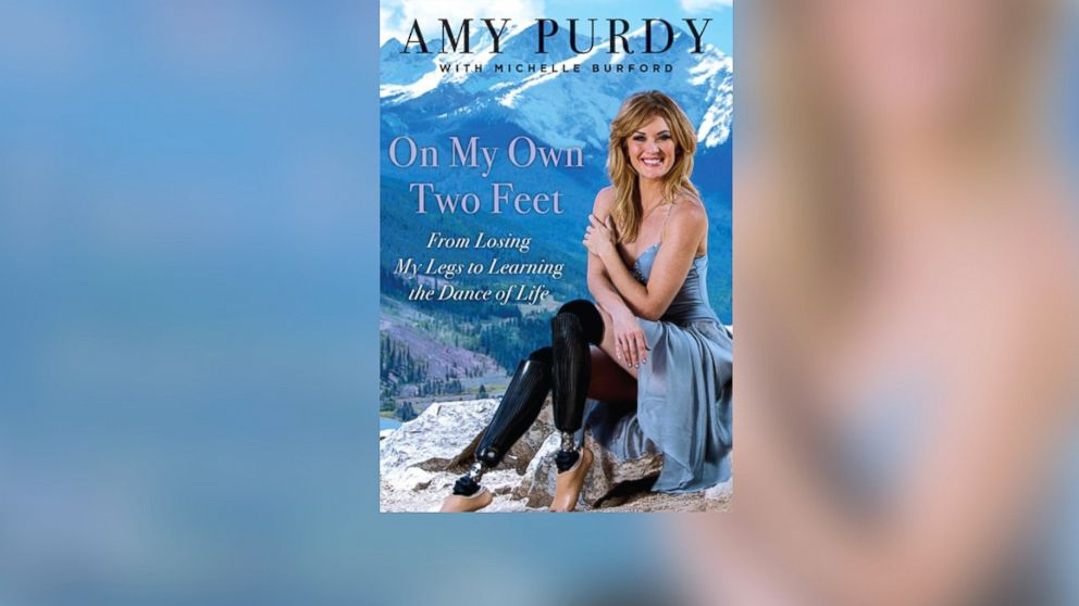 "Paralympian Amy Purdy tells the story of her near-death experience with bacterial meningitis and learning to walk and snowboard again in her book, ""On My Own Two Feet."""
