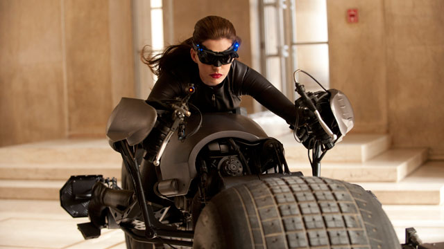 "PHOTO: Anne Hathaway portrays Catwoman in a scene from ""The Dark Knight Rises,"" set for release on July 20, 2012."