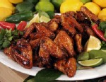PHOTO: Chef Hung Huynhs healthy baked asian wings are shown here.