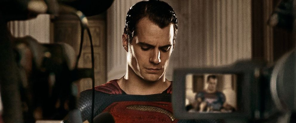 """PHOTO: Henry Cavill is seen as Superman in a promotional image from """"Batman v Superman: Dawn of Justice"""" released via Twitter on Feb. 24, 2016."""