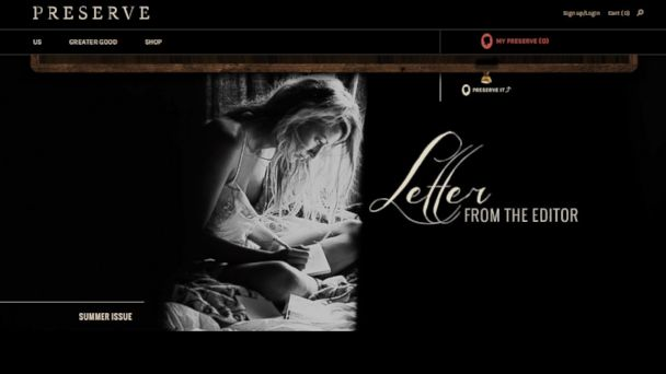 PHOTO: Blake Lively is seen in an image from her website, Preserve.us.