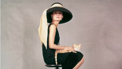 "PHOTO: Film still of Audrey Hepburn in, ""Breakfast At Tiffany's"" is featured in the new book Breakfast at Tiffany's: The Official 50th Anniversary Companion, by Sarah Gristwood, Rizzoli New York, 2011."
