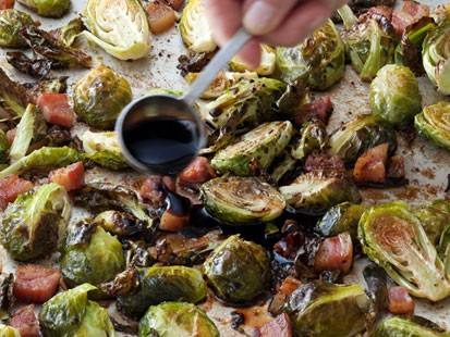 PHOTO: Ina Gartens Balsamic Roasted Brussels Sprouts Are Shown Here.