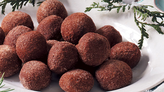 photo tasteofhomecoms cappuccino truffles are shown here - Candy Recipes For Christmas