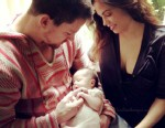 PHOTO: Channing Tatum posted an image of himself with his newborn daughter and wife to Instagram.