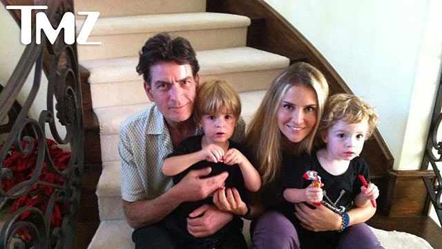 PHOTO:Charlie Sheen, Brooke Mueller and their children.