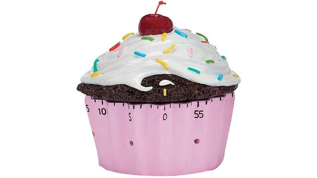 PHOTO: Brightandbold.com's cupcake timer is shown here.