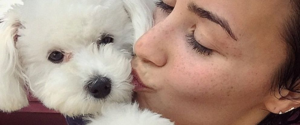 PHOTO: Demi Lovato is seen with her dog in this photo posted to Instagram on April 13, 2015.