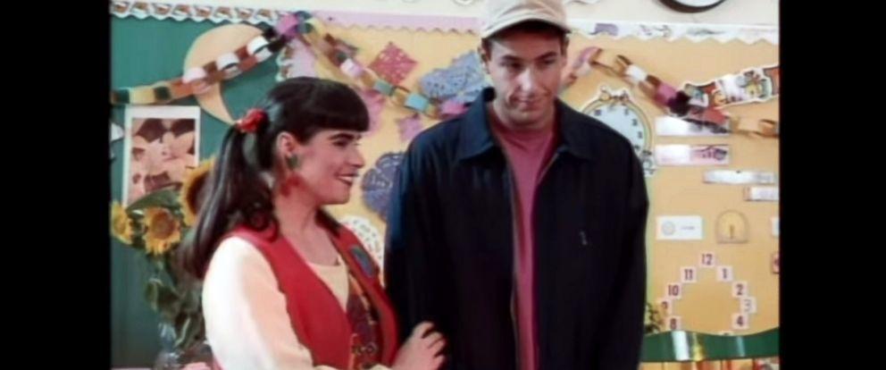 "PHOTO: Dina Platias and Adam Sandler star in the 1995 film ""Billy Madison."""