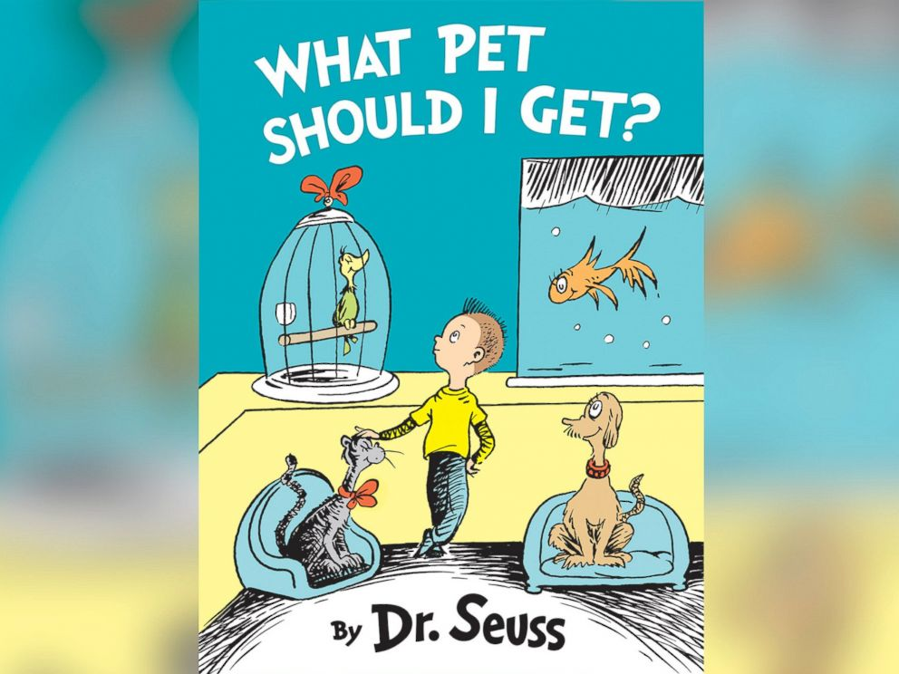 PHOTO: The cover of a previously unknown Dr. Seuss book titled, What Pet Should I Get?
