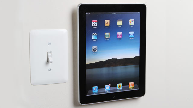 PHOTO: The PadTab mounting device for iPad is shown here.