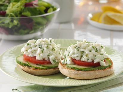 Egg white salad english muffin recipe abc news photo thomas english muffins egg white salad english muffin is shown here forumfinder Images