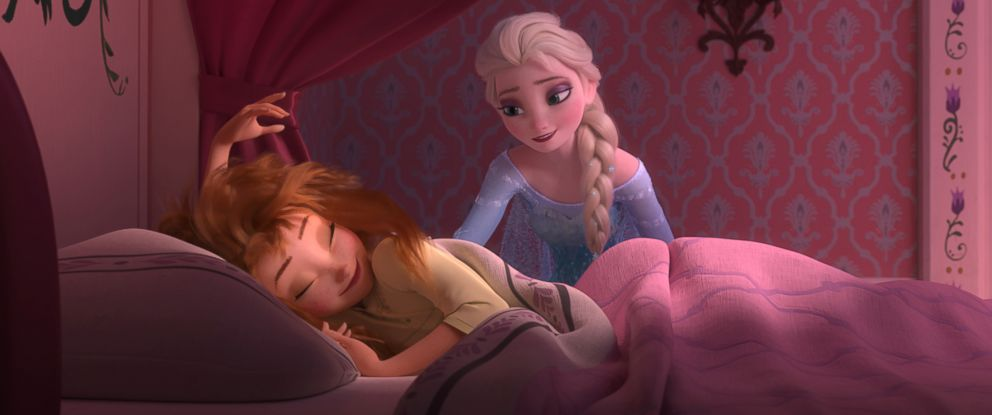 "PHOTO: Anna wakes up to a very special birthday party hosted by big sister Elsa in ""Frozen Fever."""