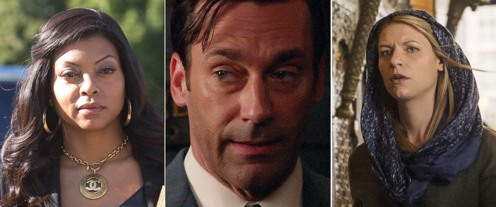 PHOTO: From the left, Jon Hamm in Mad Men, Taraji P. Henson in Empire and Claire Danes from Homeland