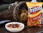 PHOTO: Thanksgiving Leftovers Fritos Pie, made from Fritos, cranberries and gravy, is shown here.