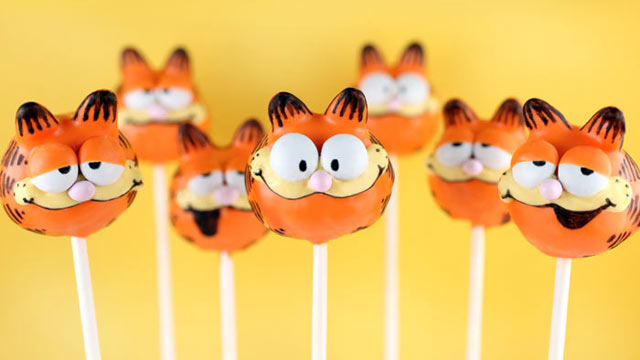 PHOTO: Bakerella's Garfield cake pops are shown here.