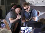 PHOTO: Gavin DeGraw performs on a flight from Phoenix to L.A. as part of Southwest Airliness Live at 35 concert series.