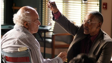 PHOTO: Giancarlo Esposito as Gustavo 'Gus' Fring, right, is seen in a scene from AMC's 'Breaking Bad.'