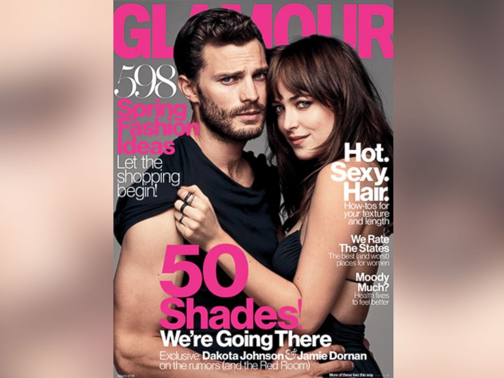 PHOTO: Jamie Dornan, left, and Dakota Johnson, right, are pictured on the March 2015 cover of Glamour.