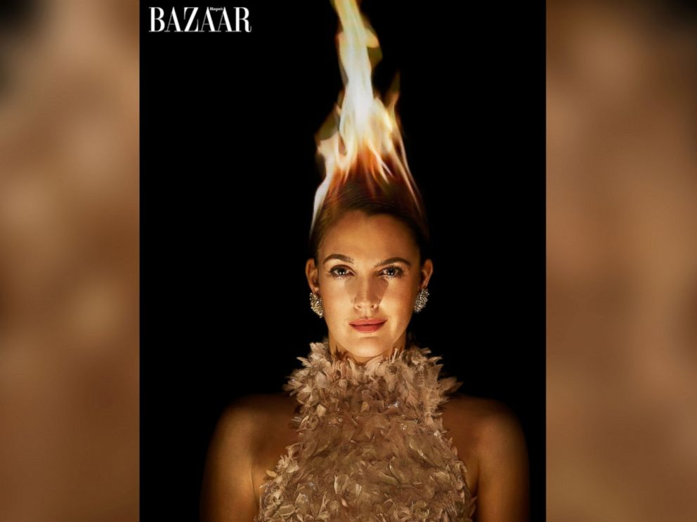 PHOTO: Drew Barry more in the March issue of Harpers Bazaar,