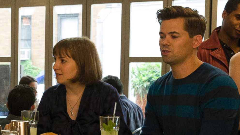 "Jemina Kirke, Zosia Mamet, Allison Williams, Lena Dunham and Andrew Rannells appear on the HBO show, ""Girls""."