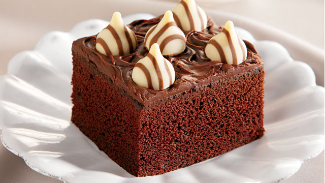 PHOTO: Hershey's Hugs and Kisses candies chocolate cake is shown here.