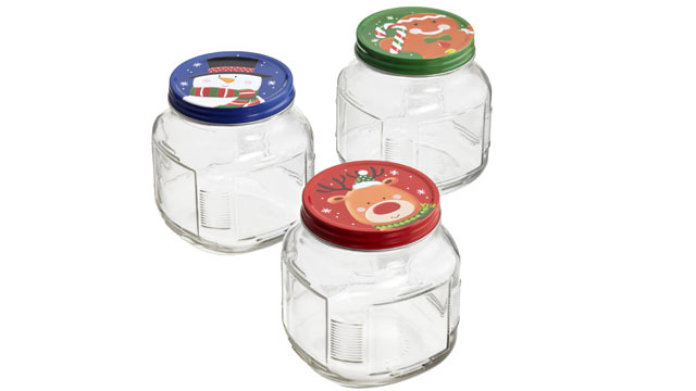 PHOTO:The holiday glass jars from The Container Store are shown.