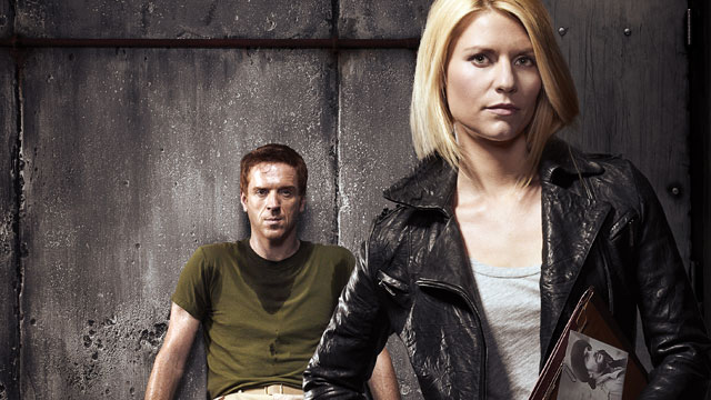 """PHOTO: Damian Lewis as Nicholas """"Nick"""" Brody and Claire Danes as Carrie Mathison in Homeland."""