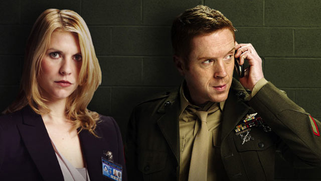 "PHOTO: Claire Danes and Damian Lewis star together in ""Homeland""."
