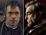 """PHOTO: Oscar Nominees Hugh Jackman in """"Les Miserables,"""" left, and Daniel Day Lewis, right, in """"Lincoln."""""""