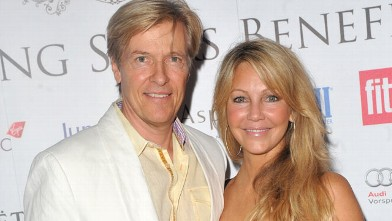 PHOTO: Heather Locklear and Jack Wagner attend the FitFlop Shooting Stars Benefit pairing dinner at Aspreys of London ahead of a two-day golf tournament raising vital funds for Make-A-Wish Foundation UK on August 3, 2011 in London, England.