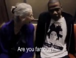 PHOTO: Jay-z takes the subway in route to his last show and sits next to a kind-faced older woman named Ellen who has no idea who shes talking to.