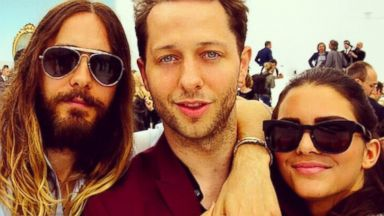 """PHOTO: Kendall Jenner tweeted this photo on July 8, 2014 with the caption, """"cute! RT @DerekBlasberg: Just a couple of Americans in Paris: me, @JaredLeto and @KendallJenner at the Chanel show."""""""