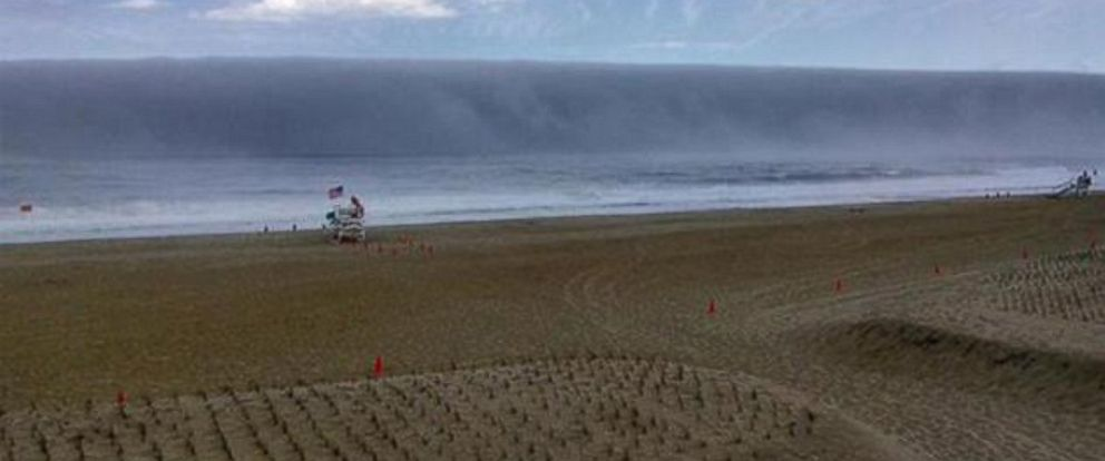 PHOTO: A menacing-looking fog bank appeared off of the coast of New Jersey on Sunday.