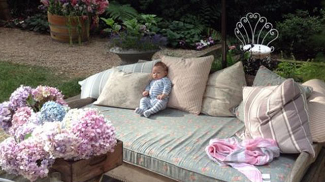 PHOTO: Jessica Simpson posted a picture of her daughter, Maxwell Drew Johnson, to her Twitter page on July 13, 2012.