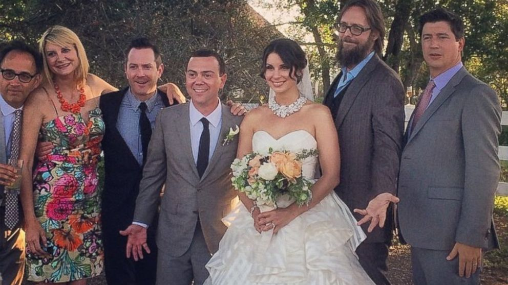 Brian N. Lo Truglio posted this photo on Instagram on April 20, 2014, showing the wedding of Beth and Joe  Lo Truglio
