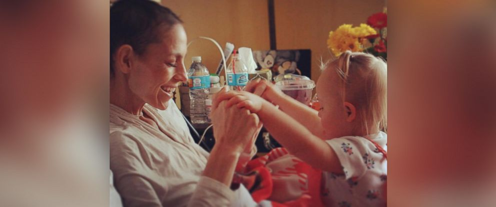 """PHOTO: Joey Feek and her daughter Indiana are seen in a photo posted to Instagram on Feb. 17, 2016 with the text, """"some birthdays are more than just birthdays. Theyre dreams coming true and prayers being answered."""""""