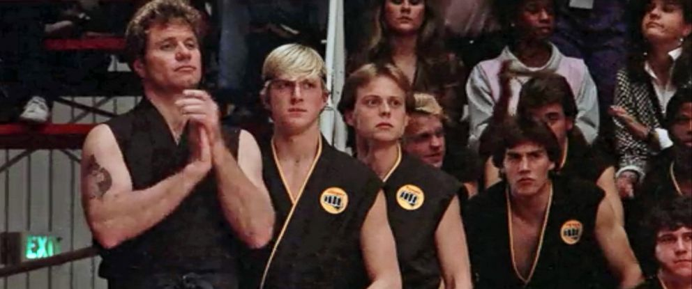 "PHOTO: Martin Kove and William Zabka star in the 1984 film, ""The Karate Kid."""