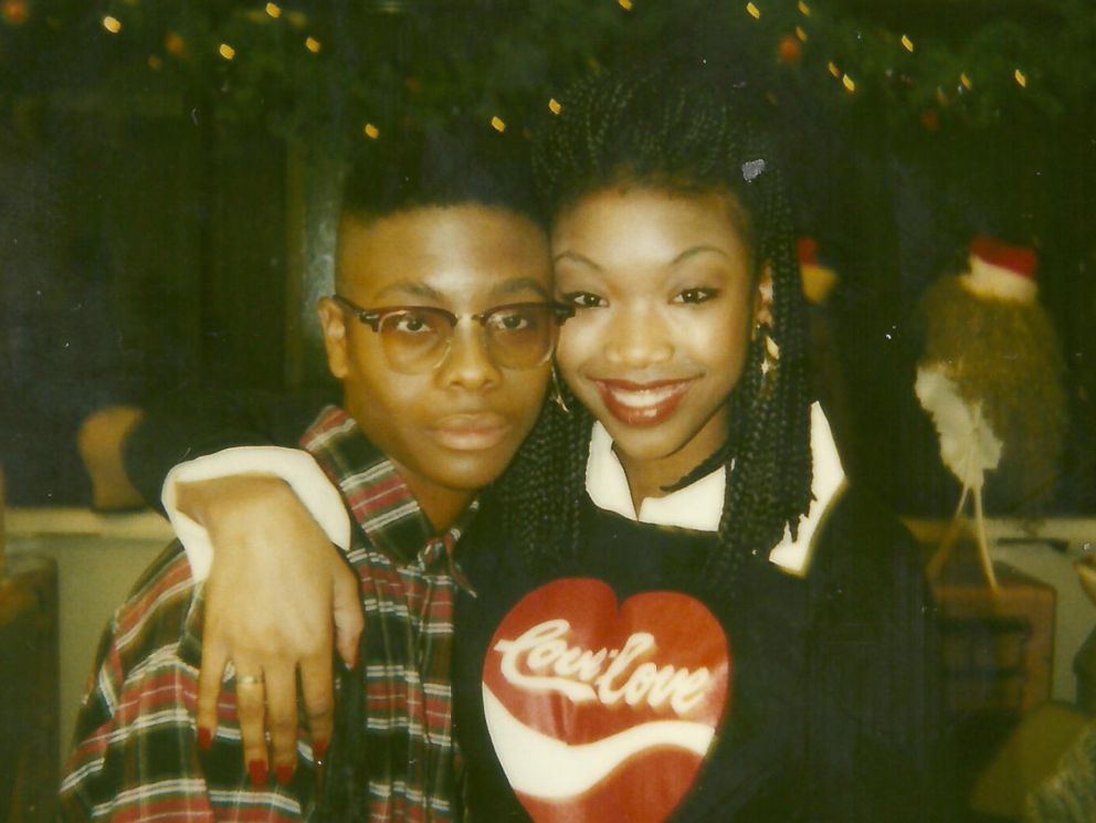 PHOTO: Kel Mitchell poses for a photo with All That musical guest Brandy Norwood.