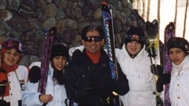 """PHOTO:Thanksgiving was the holiday that I always spent with my dad skiing every year in Vail, Colorado since I was 2 years old to 22,"""" posted Kim Kardashian on her website, Nov. 28, 2013."""