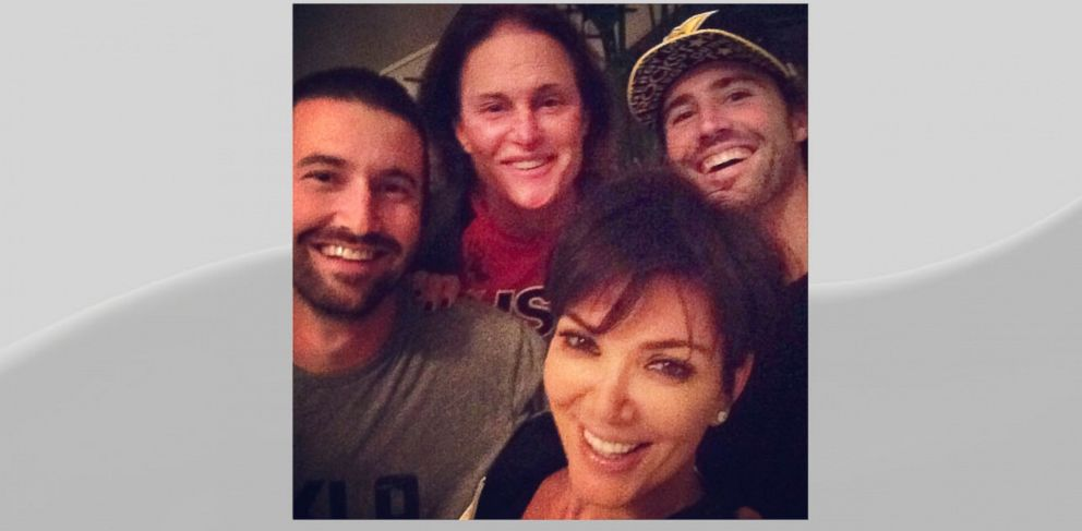 """PHOTO: Kris Jenner posted this image to Instagram with caption, """"Another amazing night @brodyjenner @sprandoni and Bruceeeeee!!! Too fun I love you guys!!! Best hearts #sorryTMZgotitwrongAGAINLOL,"""" Oct. 10, 2013."""